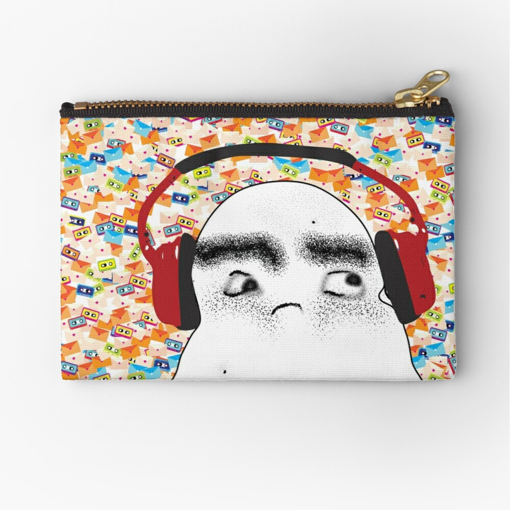 Angry Potato Man Tuning Out Zipper Pouch