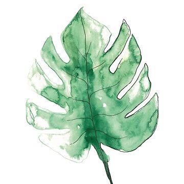 Green Leafs Pattern by PIY