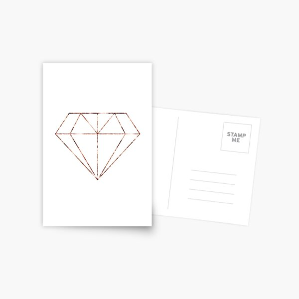 Rose gold diamond Postcard