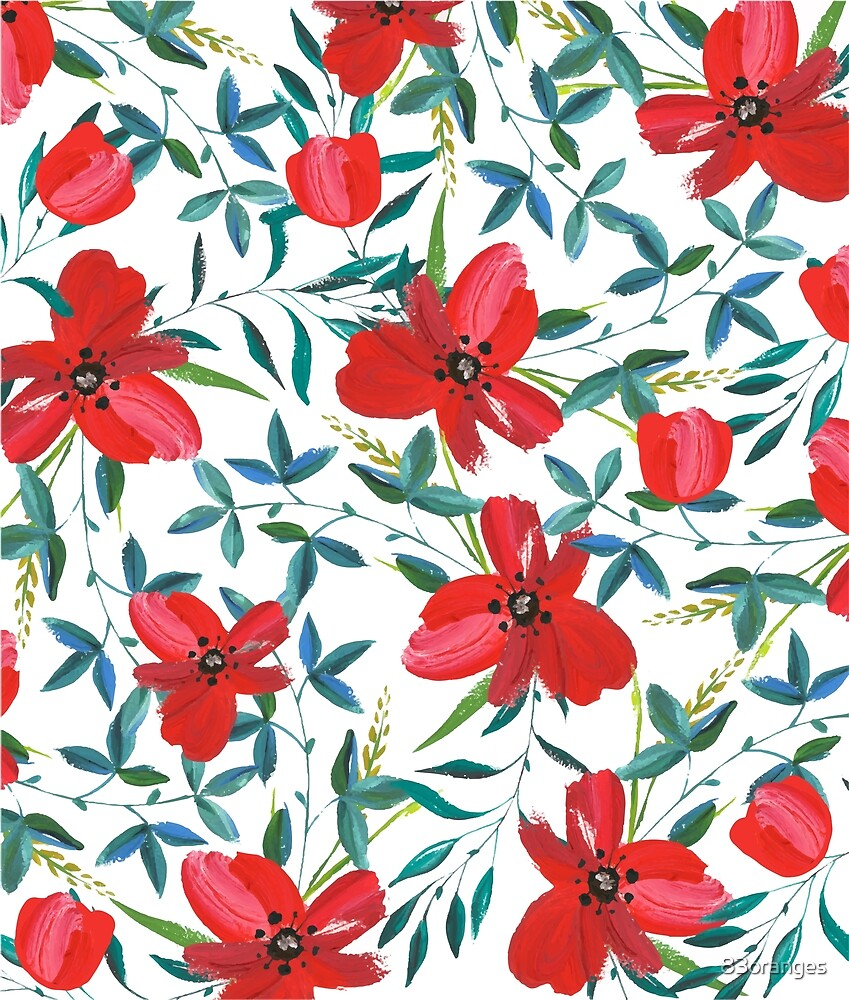 Red Blossom #redbubble #decor #buyart by 83oranges