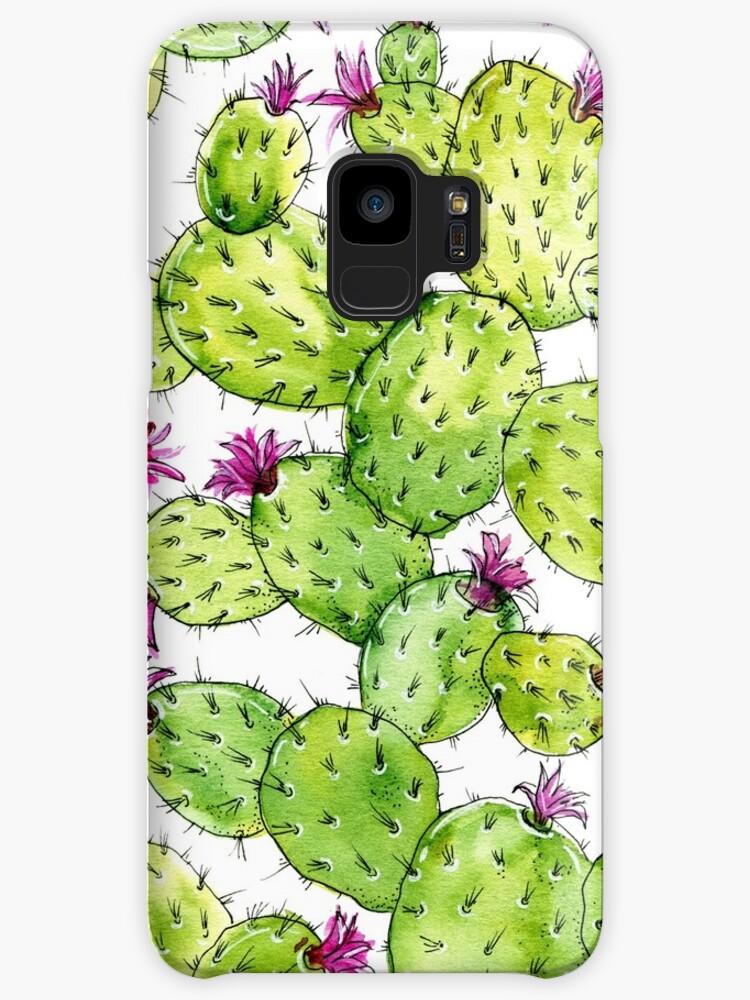 Watercolor cactus by Irina Bogomolova