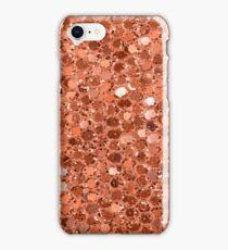 Rose gold glitter jelly iPhone Case/Skin
