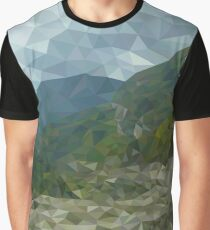 Mountain landscape in polygon technique Graphic T-Shirt