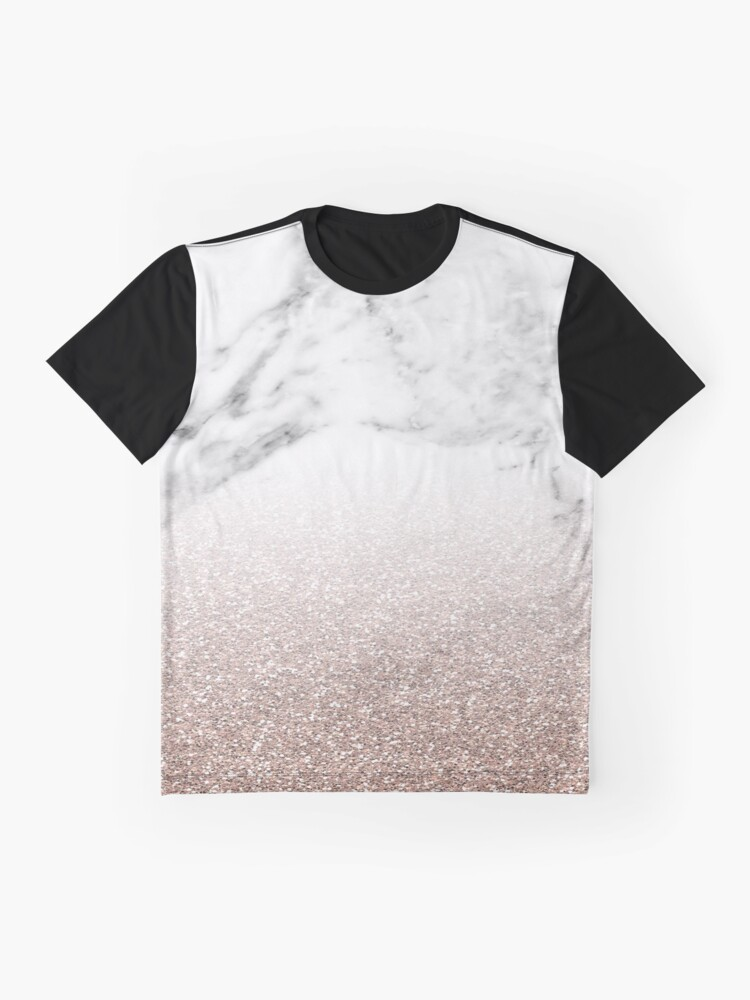 Alternative Ansicht von Rose Gold Glitter auf Marmor Grafik T-Shirt