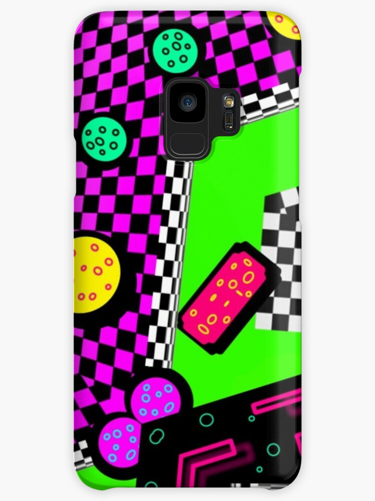 80's Geometric Psychosis Abstract Memphis Design  by neonmoonwaves