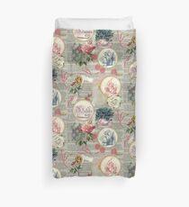 Alice floral collage Duvet Cover