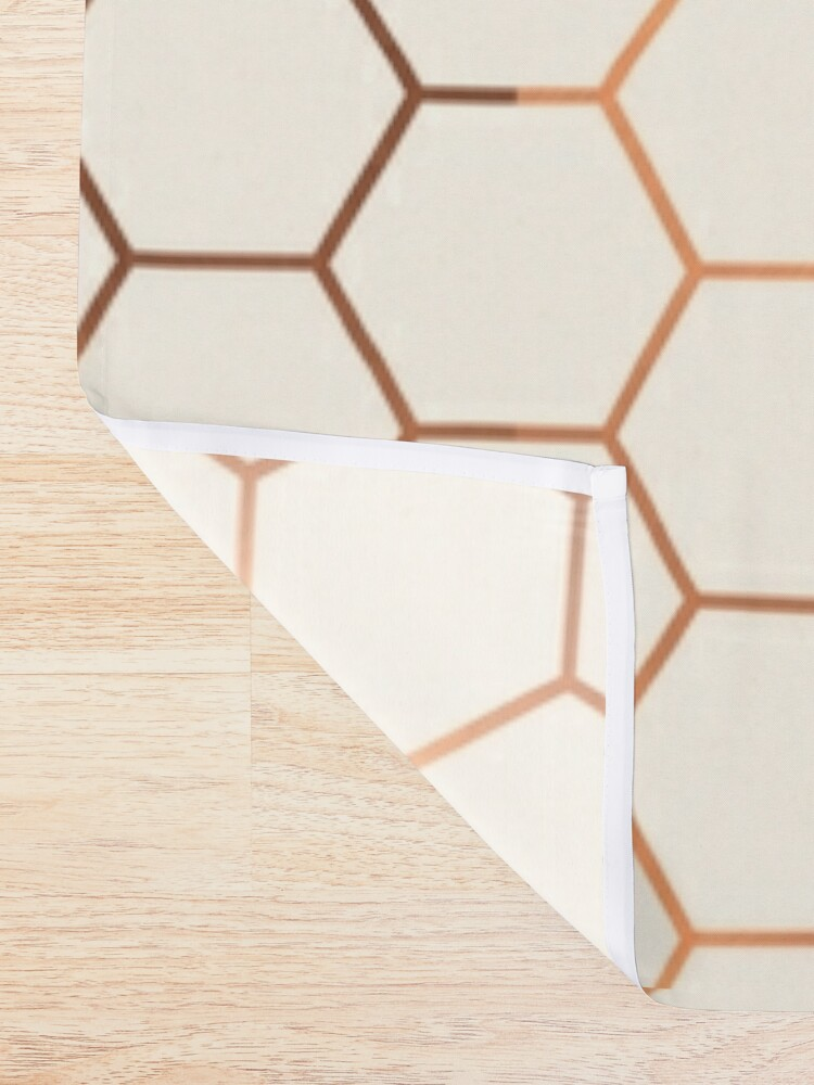 Alternate view of Rose gold copper honeycomb Shower Curtain
