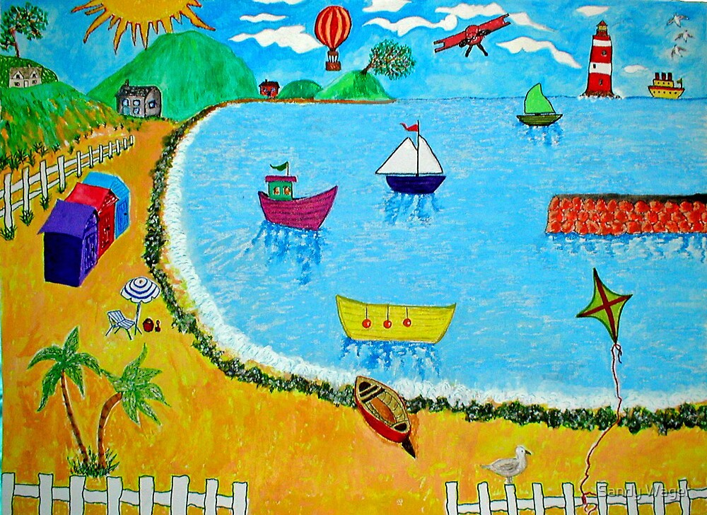 A Day At The Seaside by Sandy Wager