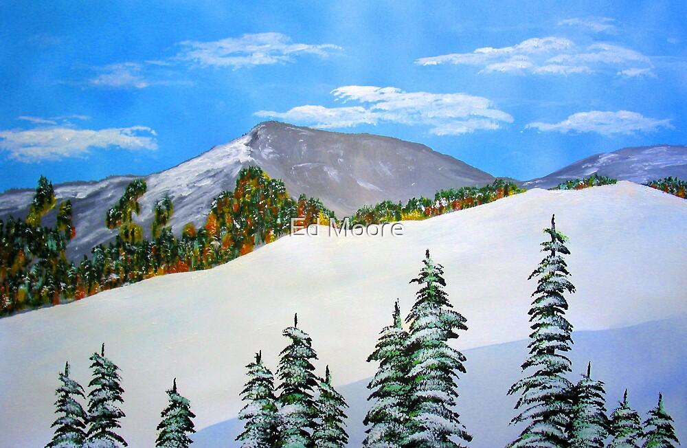 Early Sierra Snow at Ridgeline by Ed Moore