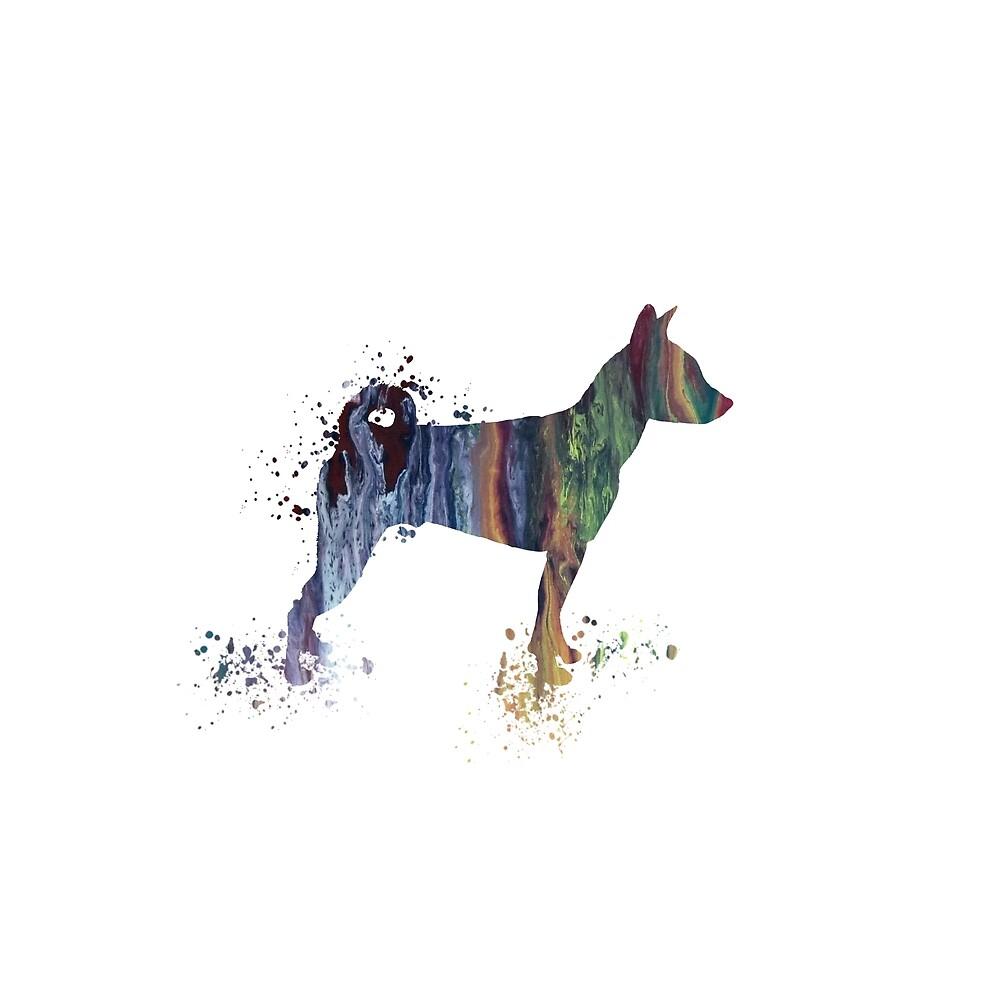 Basenji dog art by TheJollyMarten