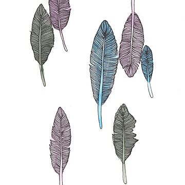 Feathers #5 by amylewisartist