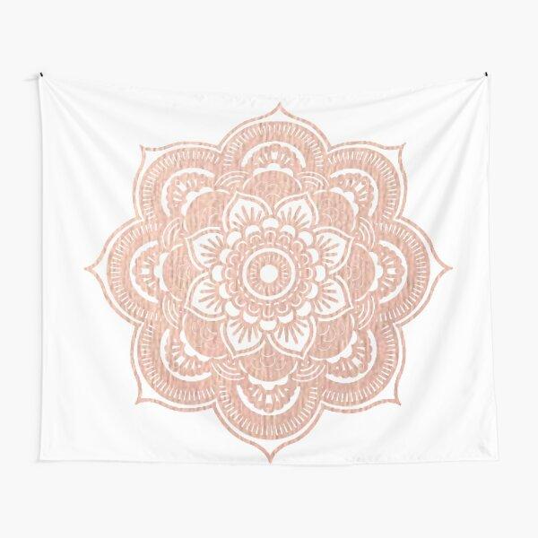 Rose gold mandala Tapestry