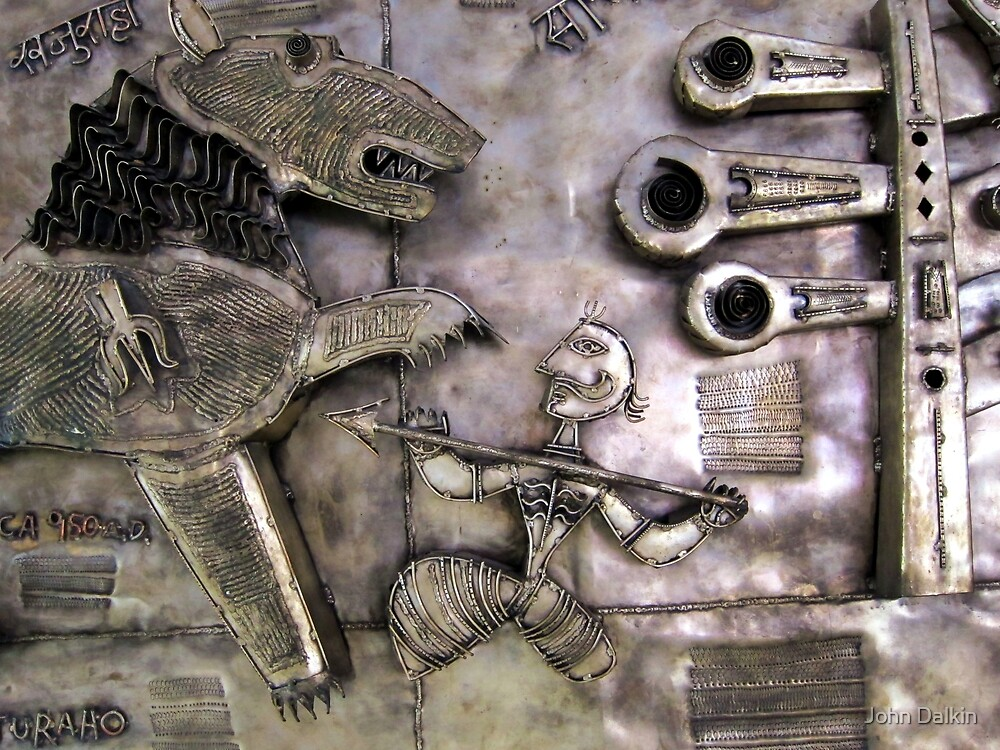 Khajuraho metal tiger hunt by John Dalkin