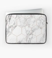 Rose gold and marble honeycomb Laptop Sleeve