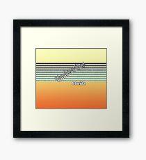 New Smyrna Beach, Florida | Surf Stripes Framed Print
