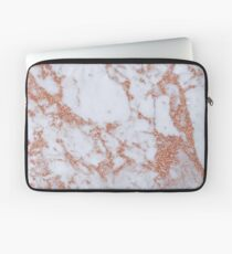 Intense rose gold marble Laptop Sleeve