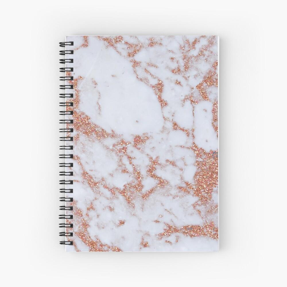 Intense rose gold marble Spiral Notebook