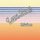 Long Sands, Maine   Surf Stripes by retroready