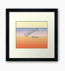Long Sands, Maine | Surf Stripes Framed Print