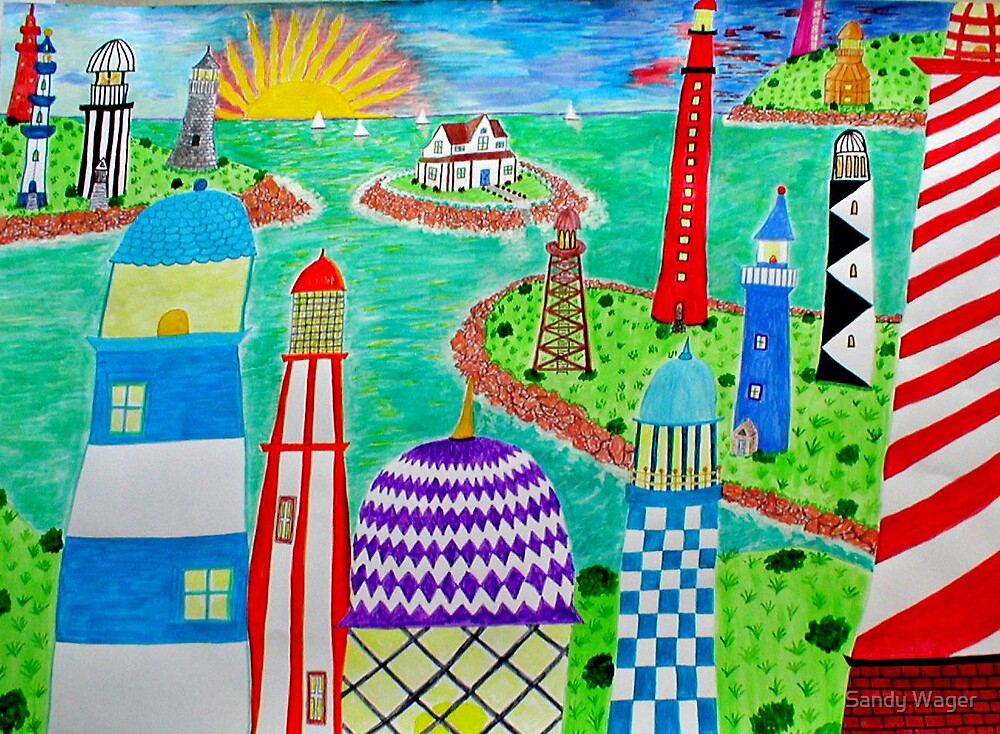 Lighthouse Village by Sandy Wager