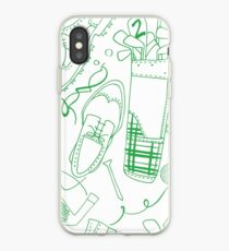 Golf pattern green iPhone Case