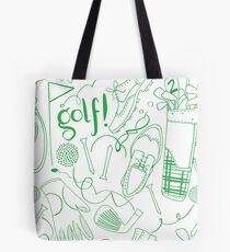 Golf pattern green Tote Bag