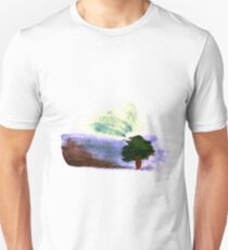 Lonely Tree in a Windy Day Watercolor T-Shirt