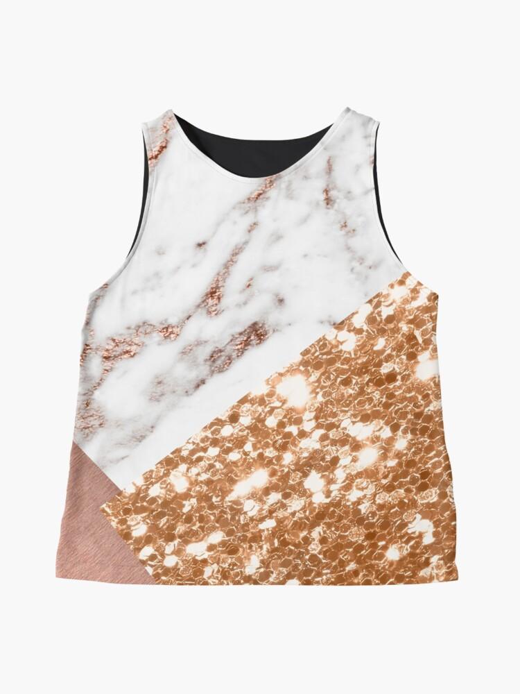 Vista alternativa de Blusa sin mangas Oro rosa en capas