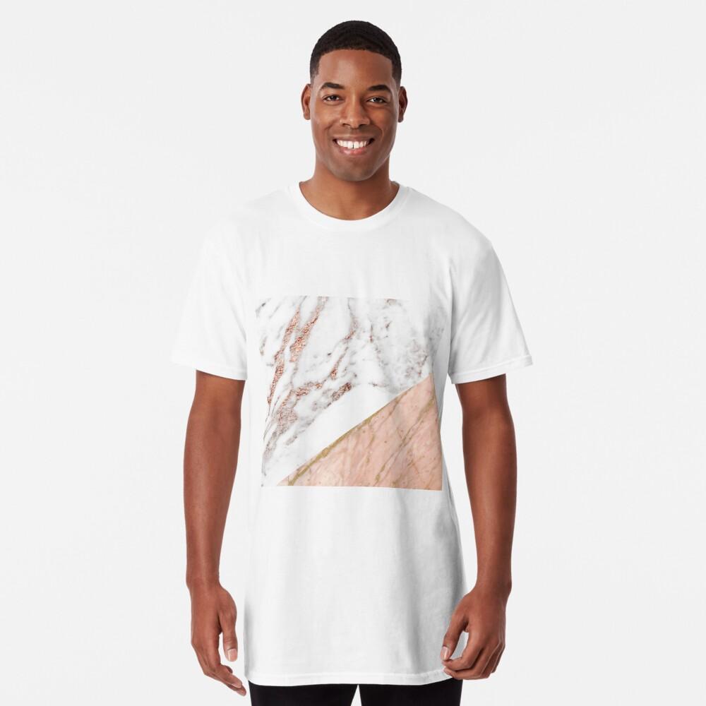 Rose gold marble blended Long T-Shirt