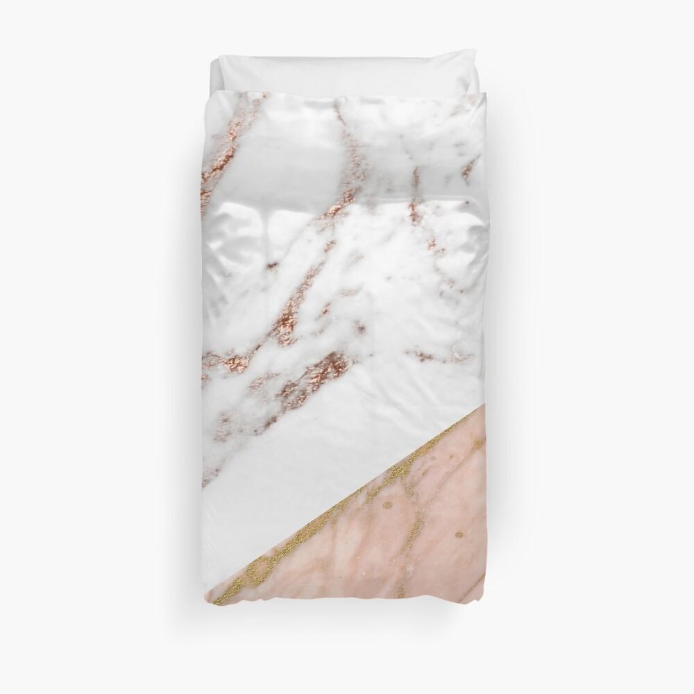 Rose gold marble blended Duvet Cover
