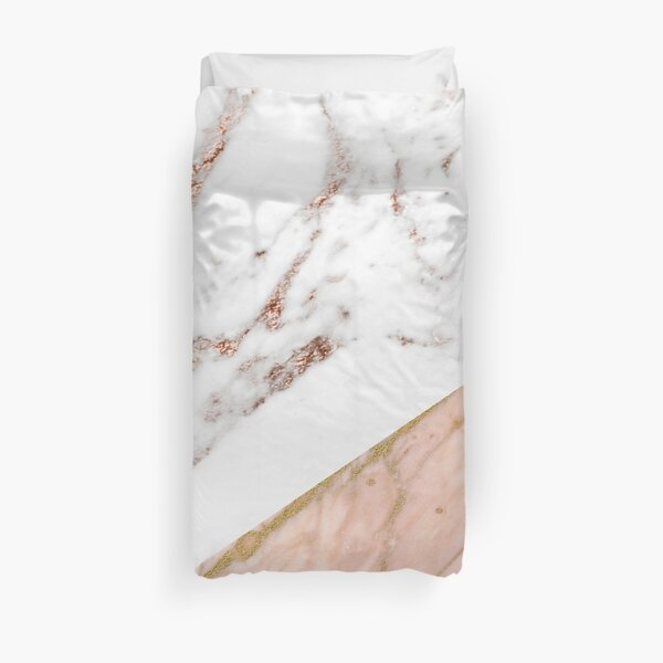 Rose gold marble blended Duvet Cover