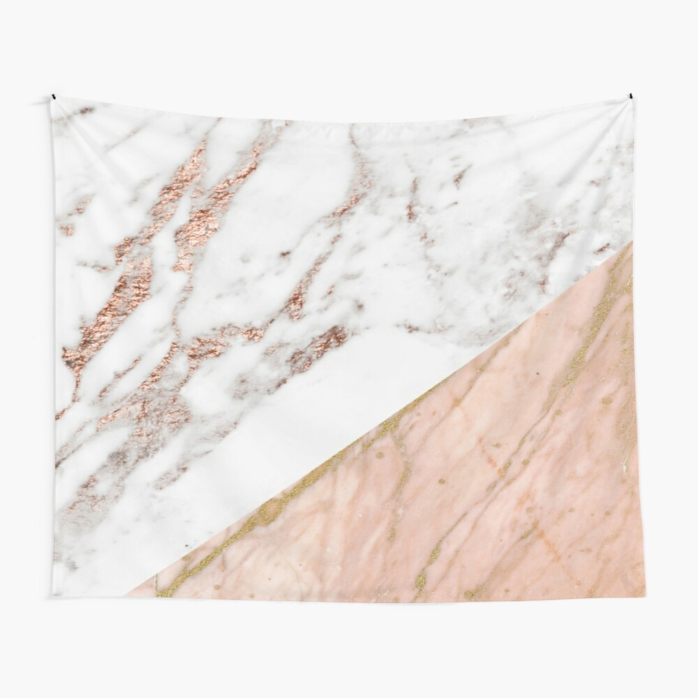 Rose gold marble blended Wall Tapestry