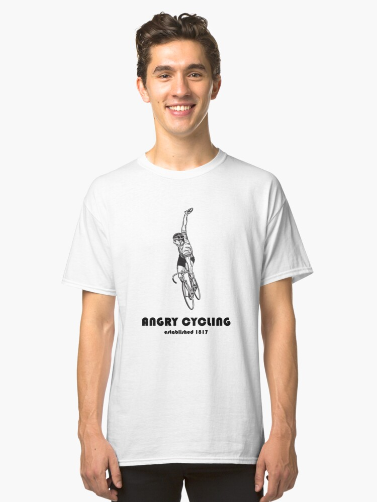 Angry Cycling - Vintage Design Classic T-Shirt Front