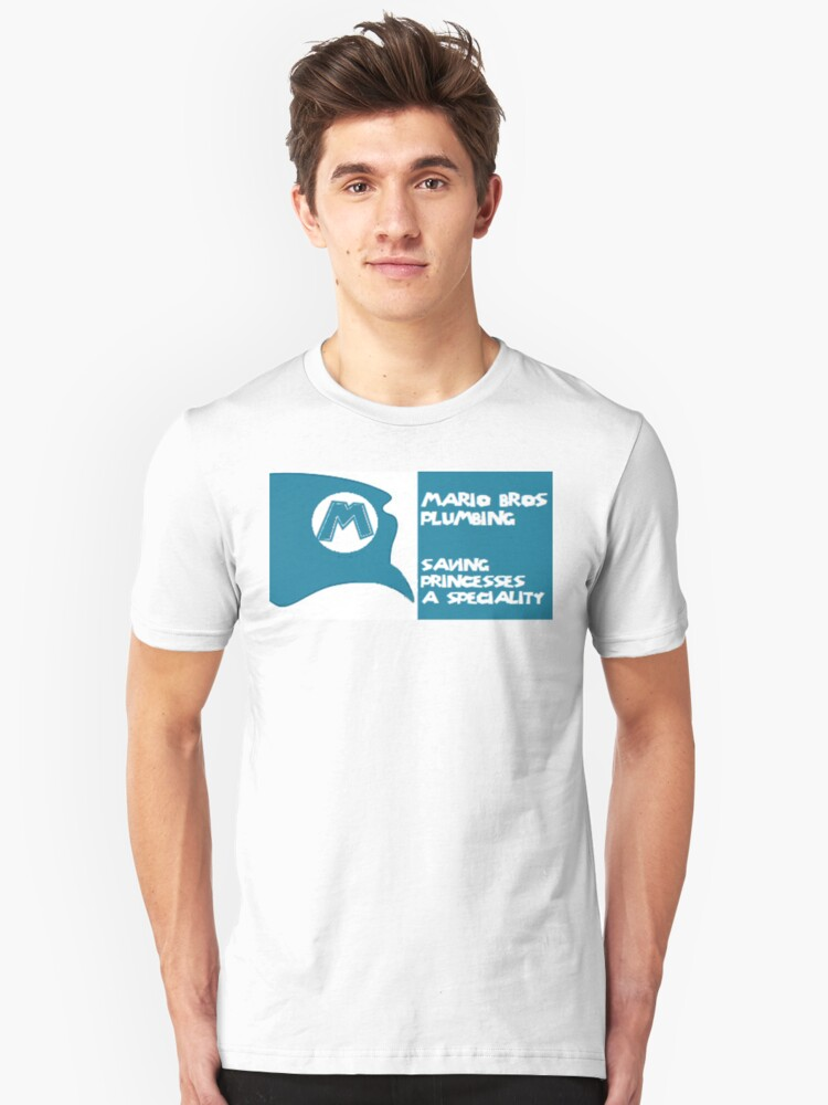 Mario business card  Unisex T-Shirt Front
