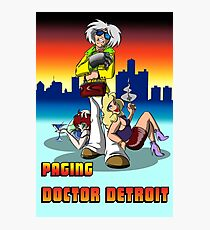 Paging Doctor Detroit Photographic Print
