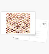 Rose gold hearts Postcards
