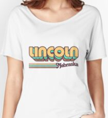 Lincoln, NE | City Stripes Women's Relaxed Fit T-Shirt