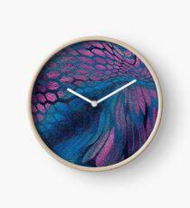 midnight dragon snakeskin Clock