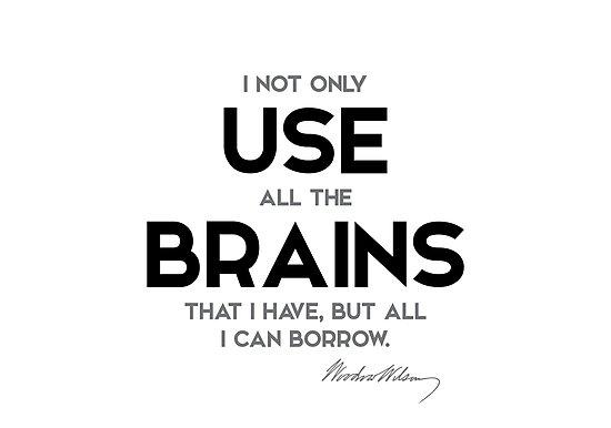use brains - woodrow wilson by razvandrc