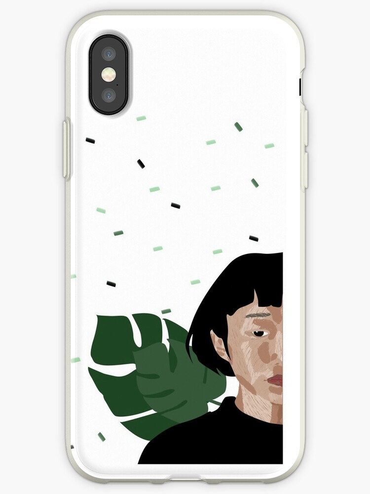 Draw of woman with square splatters phone case by tessabias