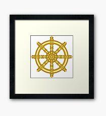 Dharma wheel 3. Framed Print