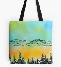Misty Morning at Lake Tahoe Tote Bag