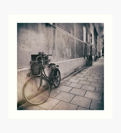 street photo BICYCLES #street #streetphoto Art Print