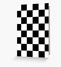 Checkered Flag, WIN, WINNER, Chequered Flag, Motor Sport, Racing Cars, Race, Finish line, BLACK Greeting Card