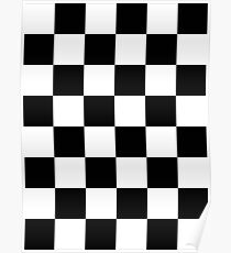 Checkered Flag, WIN, WINNER, Chequered Flag, Motor Sport, Racing Cars, Race, Finish line, BLACK Poster
