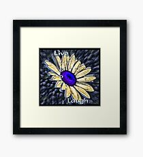 Live, Love, Laugh Framed Print
