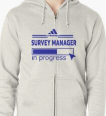 SURVEY MANAGER Zipped Hoodie