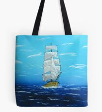 Sailing Outside the Golden Gate in California Tote Bag