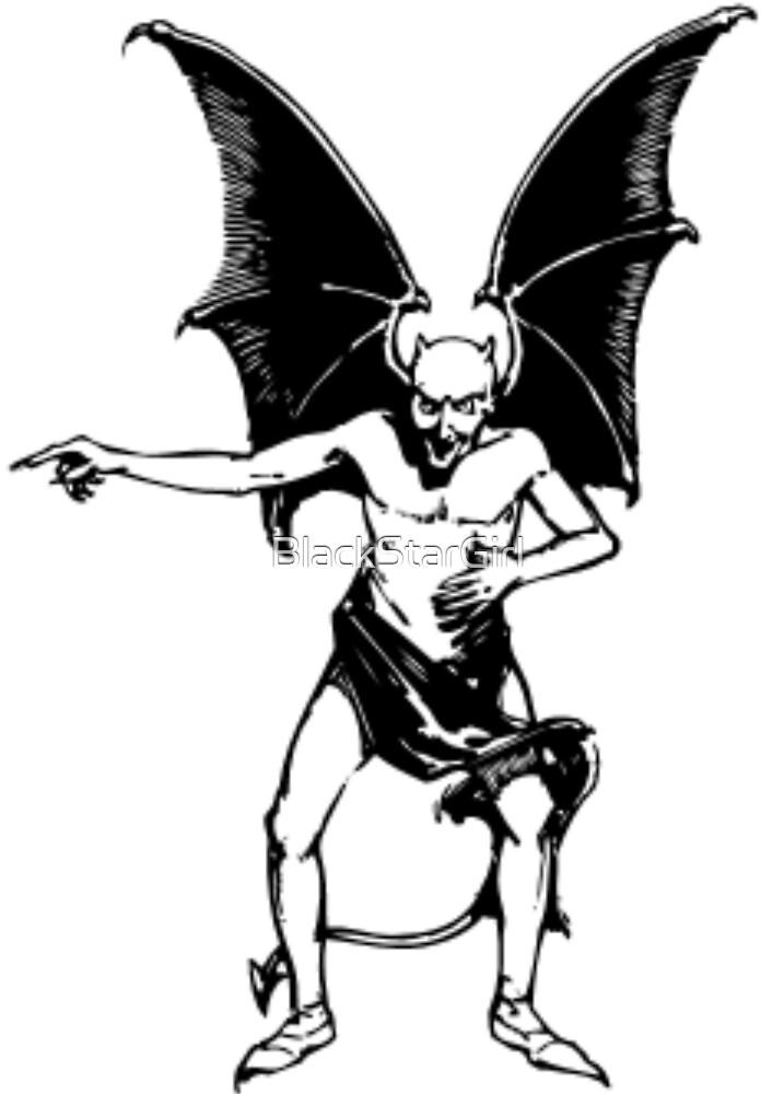 Vintage Pointing Devil by BlackStarGirl