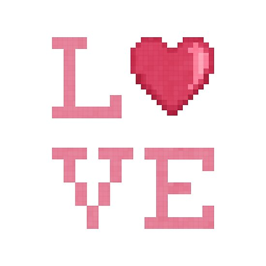 Love Pixels (white) by likelikes
